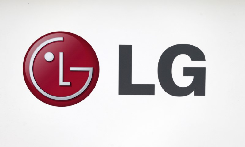 FILE PHOTO - LG Electronics' company logo is seen at a shop in central Seoul