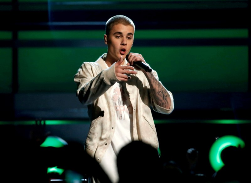 FILE PHOTO: Justin Bieber performs a medley of songs at the 2016 Billboard Awards in Las Vegas