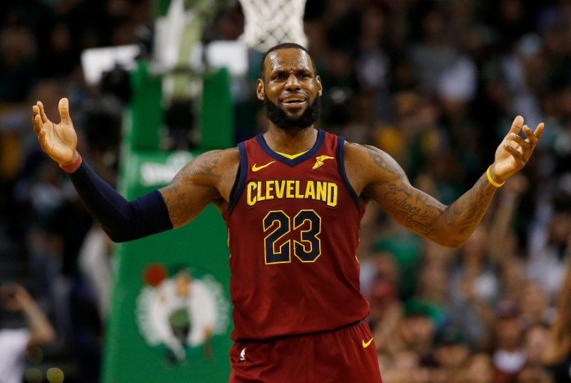 FILE PHOTO:    NBA: Playoffs-Cleveland Cavaliers at Boston Celtics
