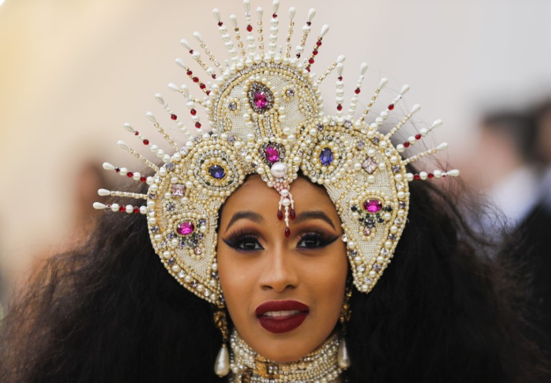 FILE PHOTO: Rapper Cardi B arrives at the Metropolitan Museum of Art Costume Institute Gala to celebrate the opening of