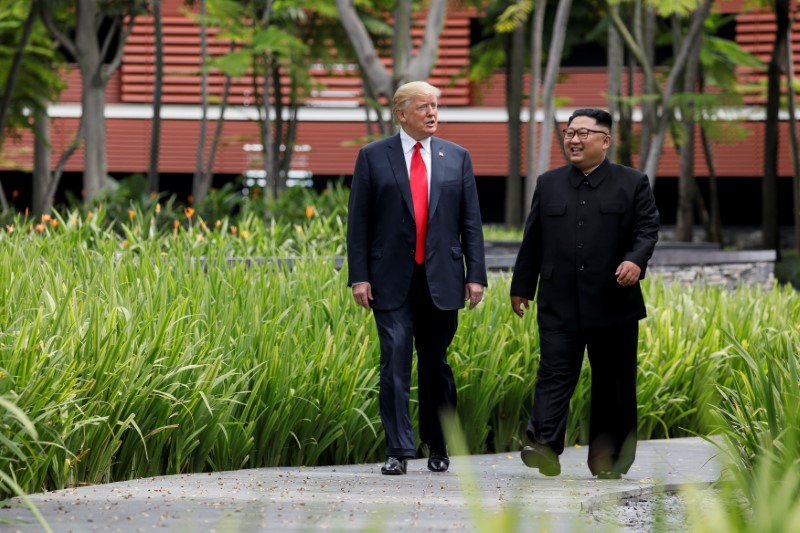 Kim hopes for 'improvement of relations' with USA  in letter to Trump