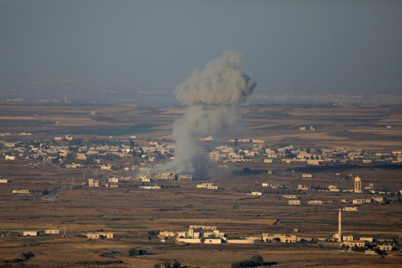 800 missiles unleashed on rebel-held area near Golan Heights