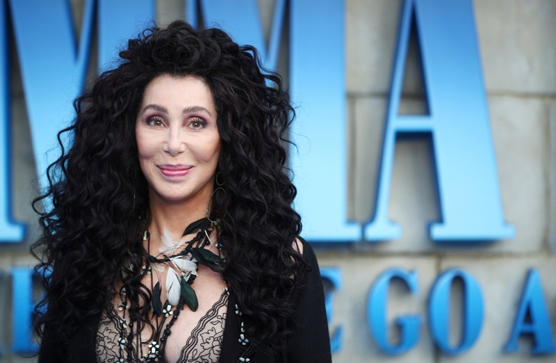 FILE PHOTO: Cher attends the world premiere of Mamma Mia! Here We Go Again at the Apollo in Hammersmith, London