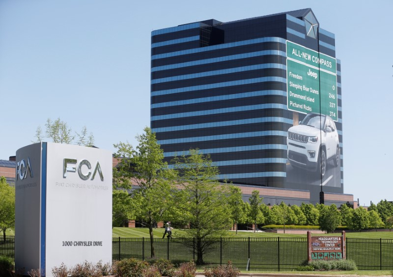 Fiat Chrysler Automobiles (FCA) U.S. headquarters is seen in Auburn Hills, Michigan