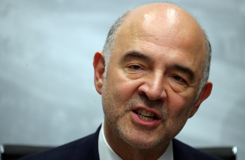 European Commissioner for Economic and Financial Affairs Moscovici speaks during a news conference at the G20 Meeting of Finance Ministers in Buenos Aires