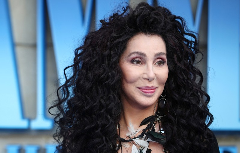 FILE PHOTO: Cher attends the world premiere of Mamma Mia! Here We Go Again at the Apollo in Hammersmith, London