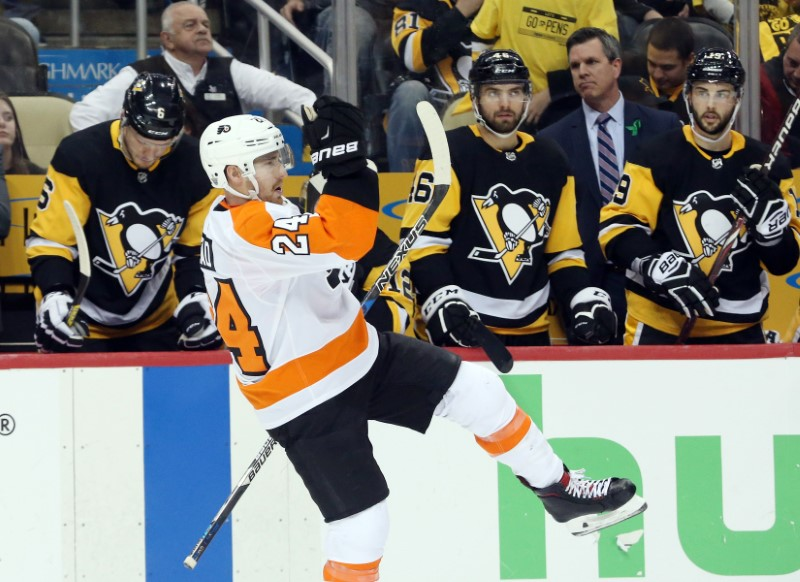 FILE PHOTO: NHL: Stanley Cup Playoffs-Philadelphia Flyers at Pittsburgh Penguins