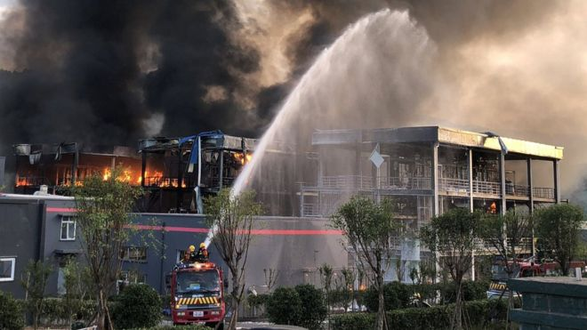 China industrial park explosion kills 19