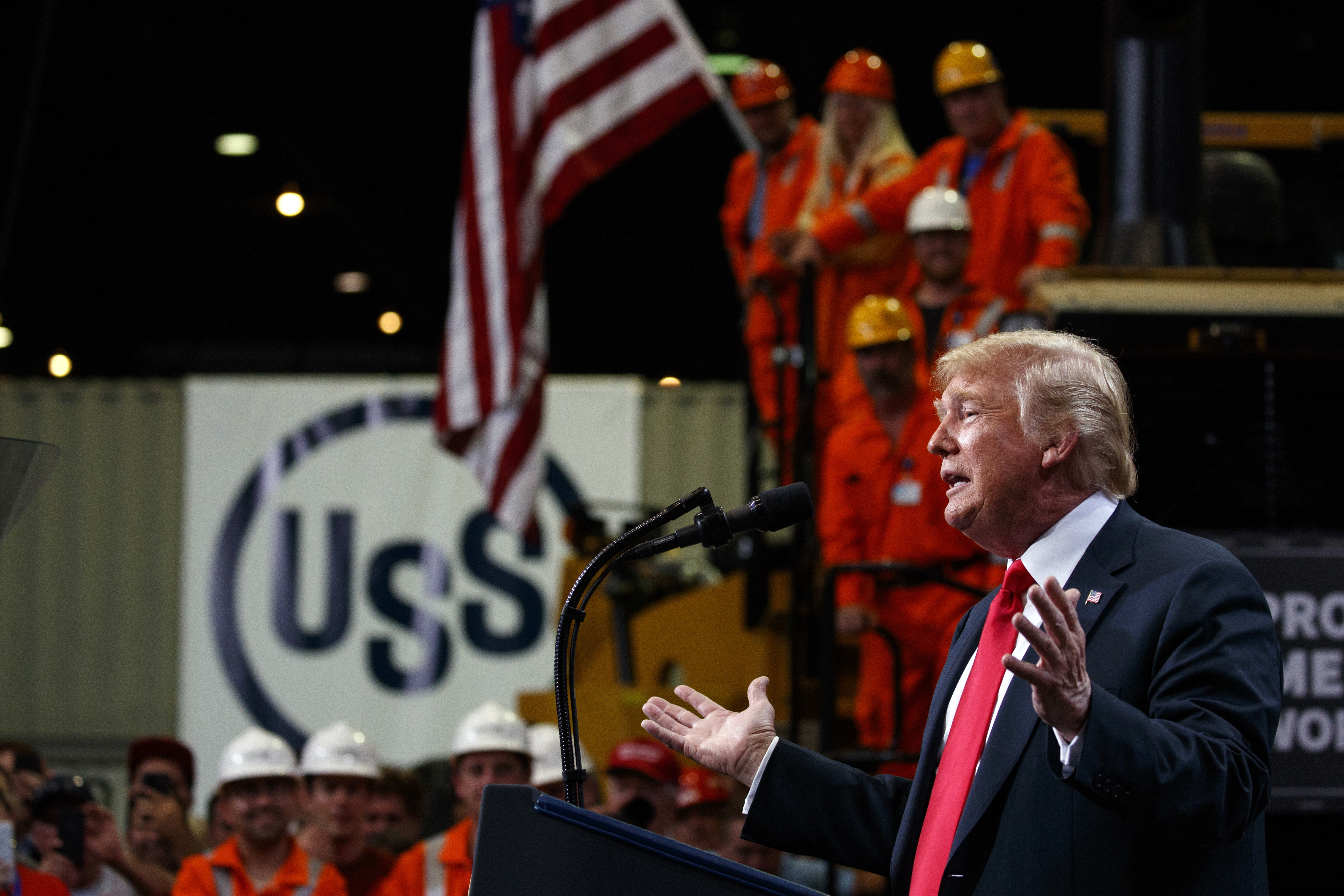 Trump predicts a 'terrific' GDP report at US Steel plant