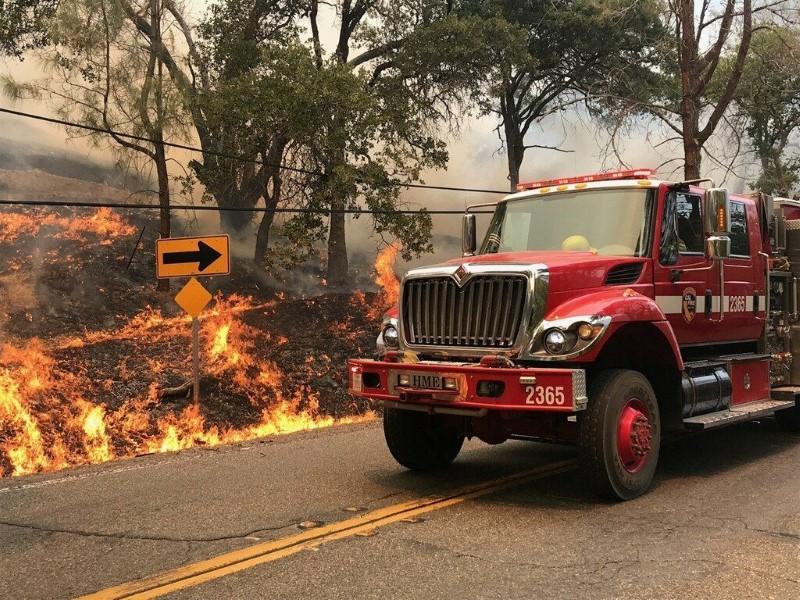 Moving Brush Fire Destroys, Threatens Homes In Goleta