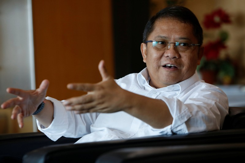 Indonesian Minister of Communication and Information Technology, Rudiantara, talks during an interview with Reuters at his office in Jakarta