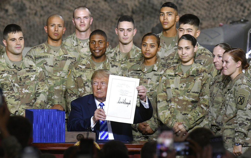 With Pres. Trump signature military getting largest pay raise in 9 years