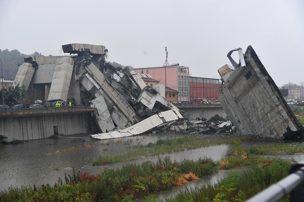 'Dozens Of Deaths' As Motorway Bridge Collapses In Italian City Of Genoa