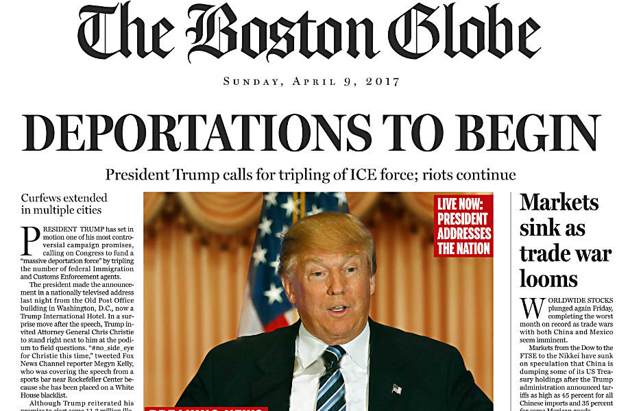 U.S.  newspapers unite against Donald Trump's 'fake news' rhetoric