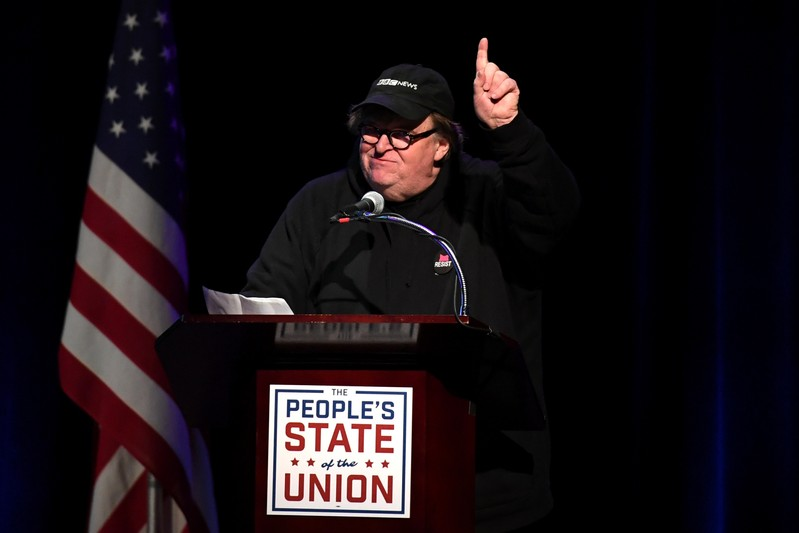 Michael Moore says Gwen Stefani is largely responsible for Trump's presidency