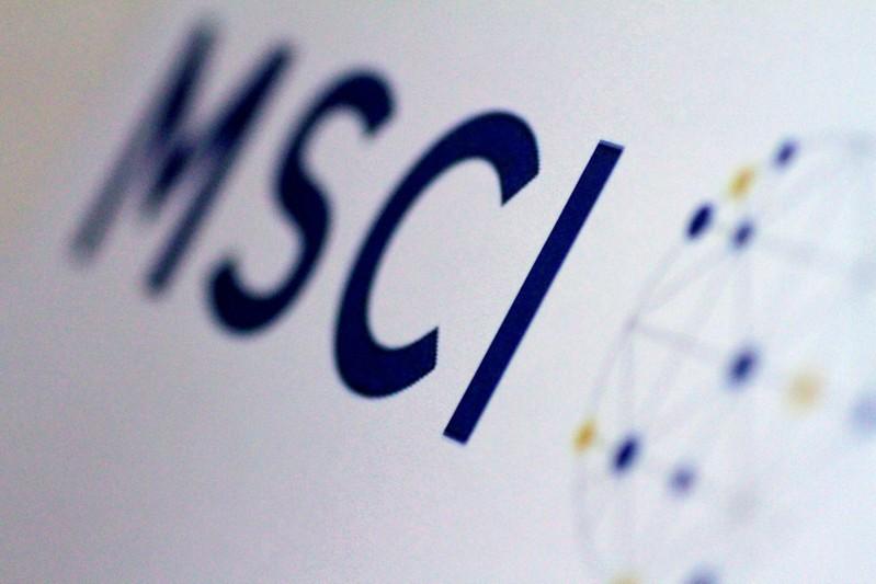 FILE PHOTO: Illustration photo of the MSCI logo