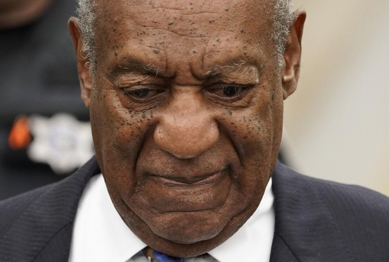 Actor and comedian Bill Cosby leaves the Montgomery County Courthouse after his first day of sentencing hearings in his sexual assault trial in Norristown