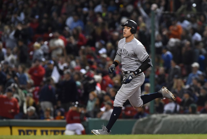 Stanton Led Yankees Tie Team Home Run Record Long Room