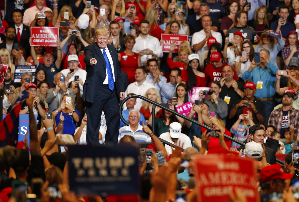 President Donald Trump Holds Rally in Las Vegas