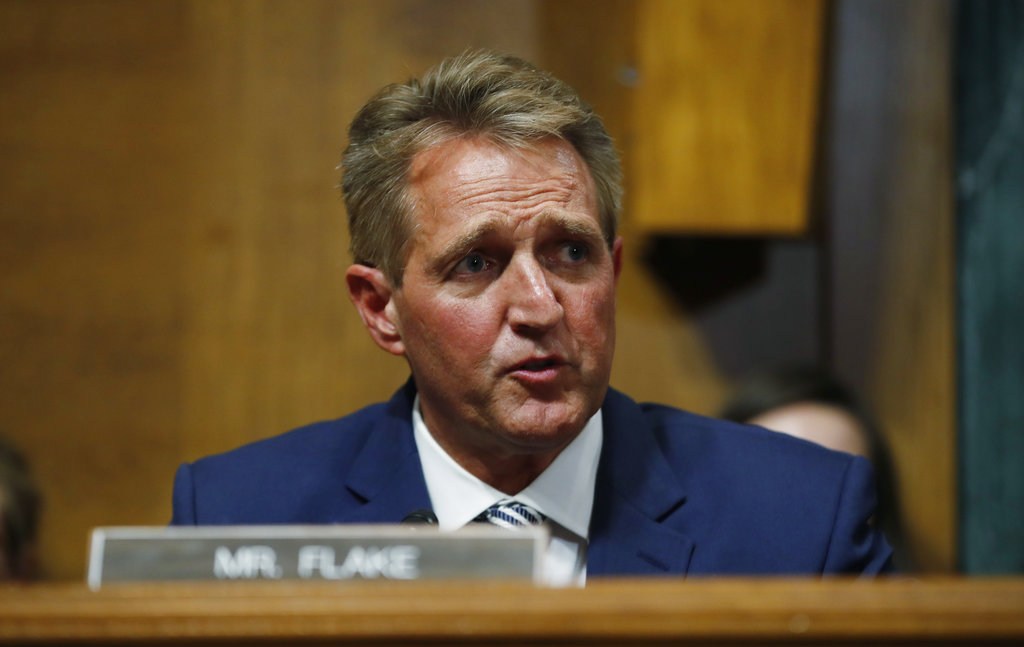 Republican Sen. Flake plans to snatch presidential ticket from Trump