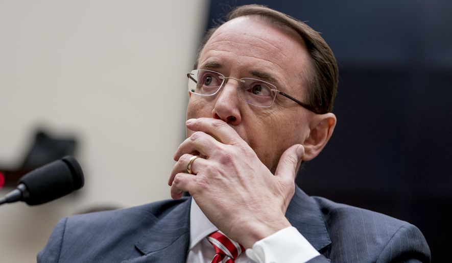 Deputy Attorney General Rod Rosenstein reportedly resigns
