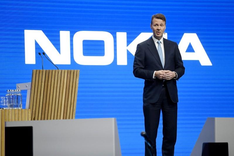 FILE PHOTO: Nokia Chairman Siilasmaa speaks during the company's shareholders meeting in Helsinki
