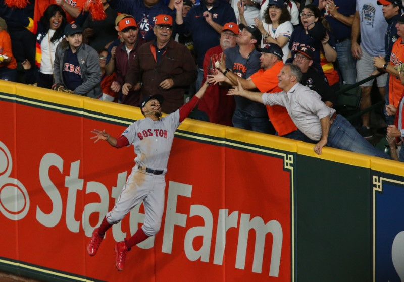 Boston Red Sox beat Houston Astros after fan interferes with catch