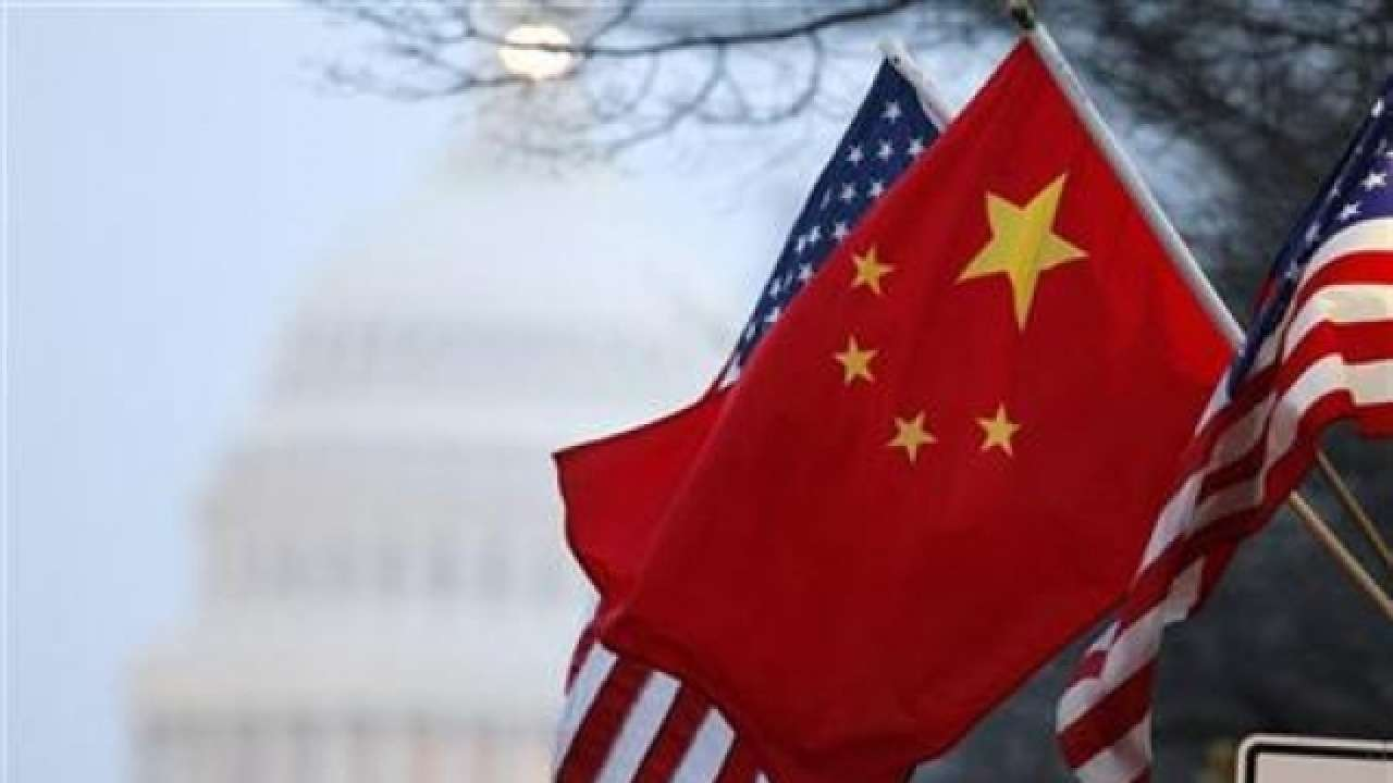 The U.S. and Chinese flags side by side