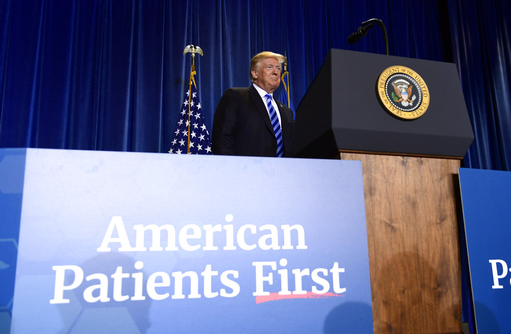 President Trump blames high cost of drugs on 'freeloading' countries