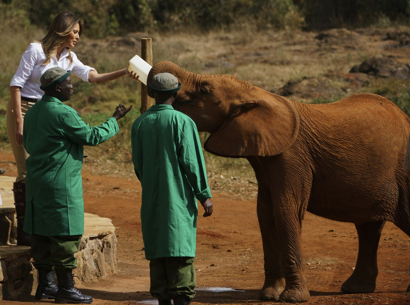 Melania Trump visits children's home, wildlife sanctuary in Nairobi