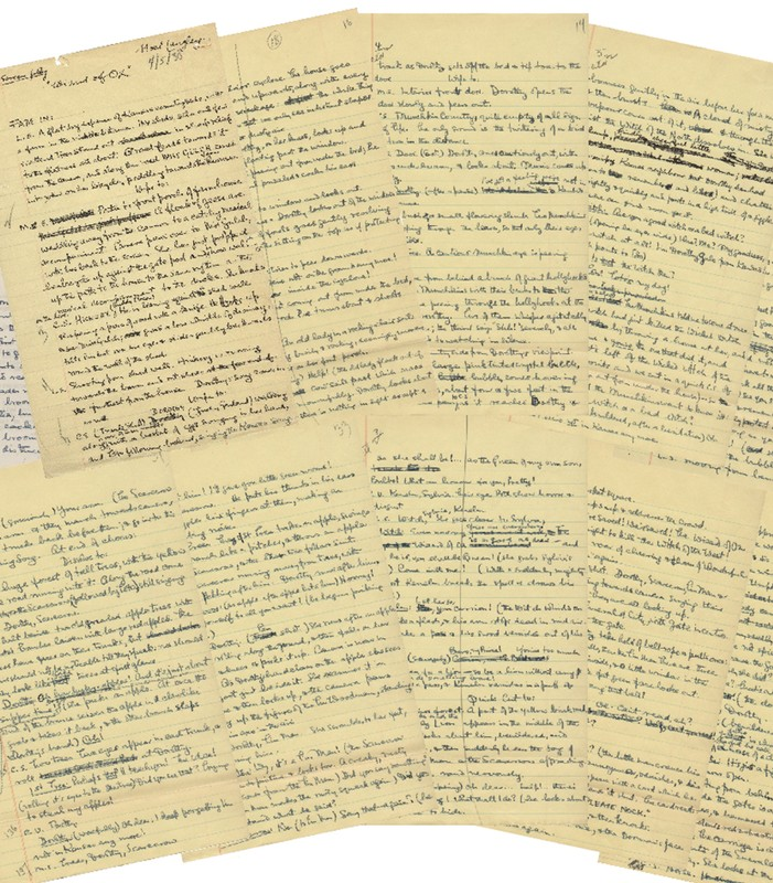 Profiles in History image of the original handwritten first draft script for the beloved film