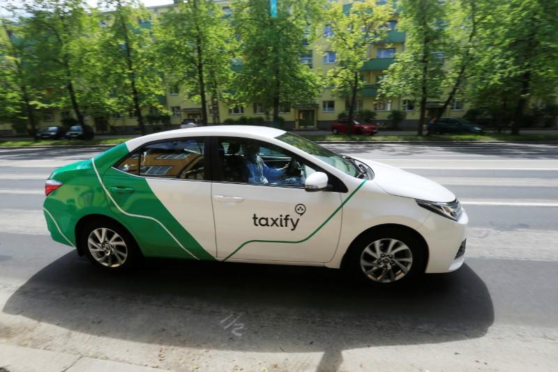 FILE PHOTO - A Taxify car drives in Tallinn