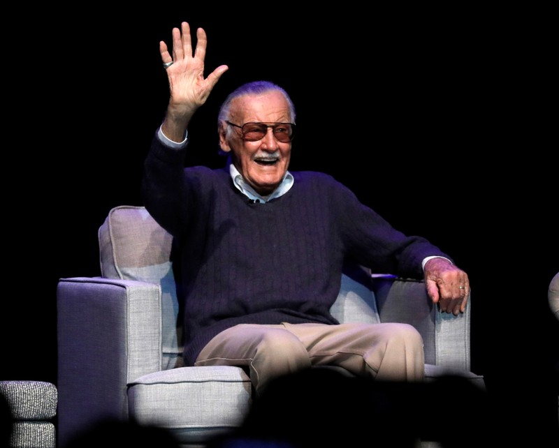 FILE PHOTO: Marvel Comics co-creator Lee attends a tribute event