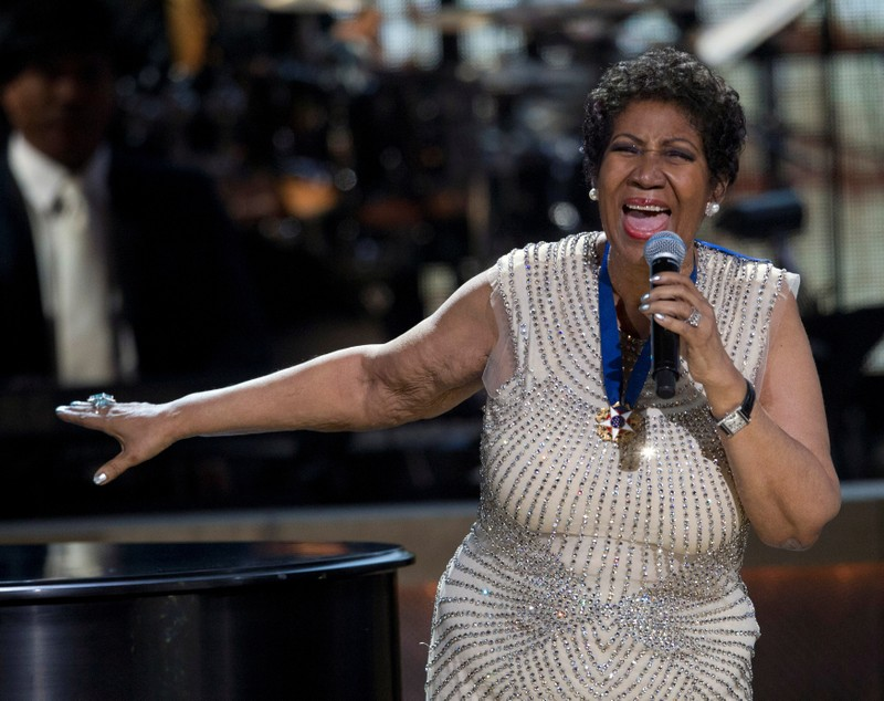 FILE PHOTO: Aretha Franklin performs onstage at BET Honors 2014 at Warner Theatre