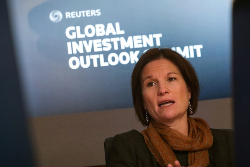 Monica Erickson, senior portfolio manager at DoubleLine Capital LP, speaks during the Reuters Global Investment 2019 Outlook Summit in New York
