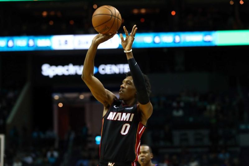 NBA:夏洛特黄蜂队的迈阿密热火队