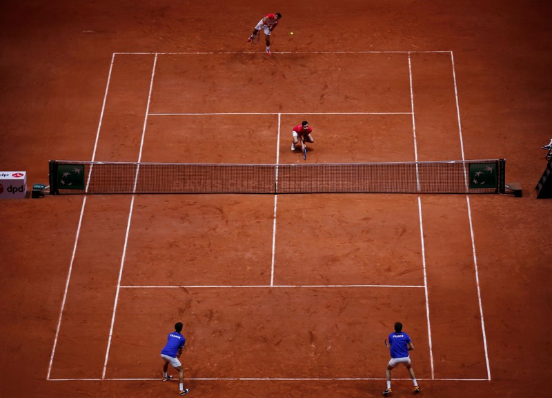 Doubles win keeps French hopes alive at Davis Cup final