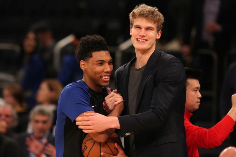 NBA:芝加哥公牛队在纽约尼克斯队