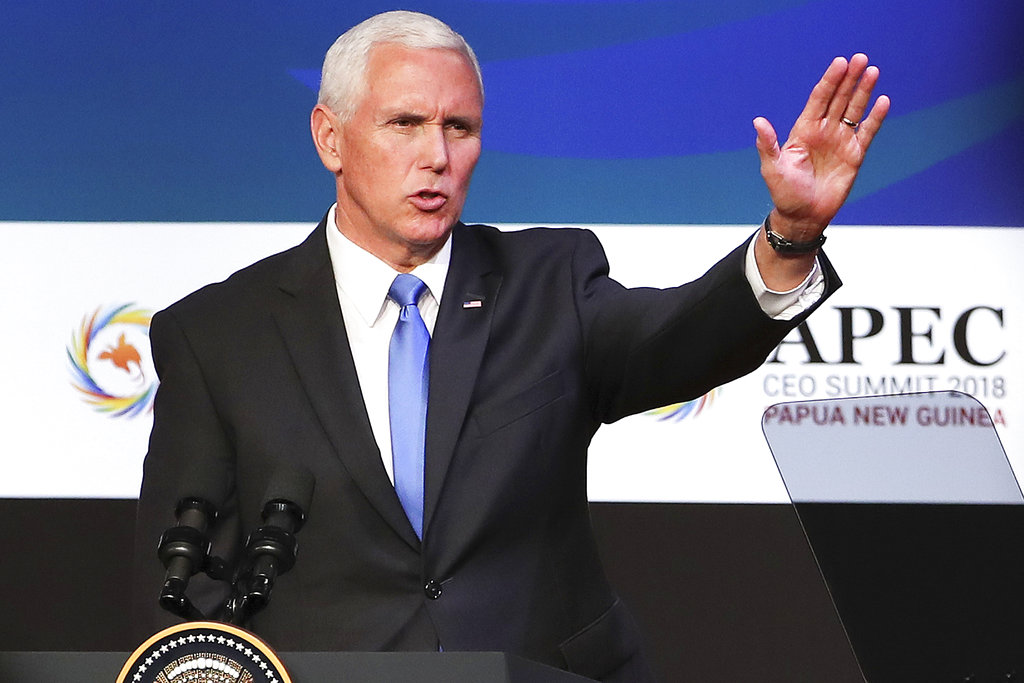 US VP Pence: South China Sea doesn't belong to any one nation