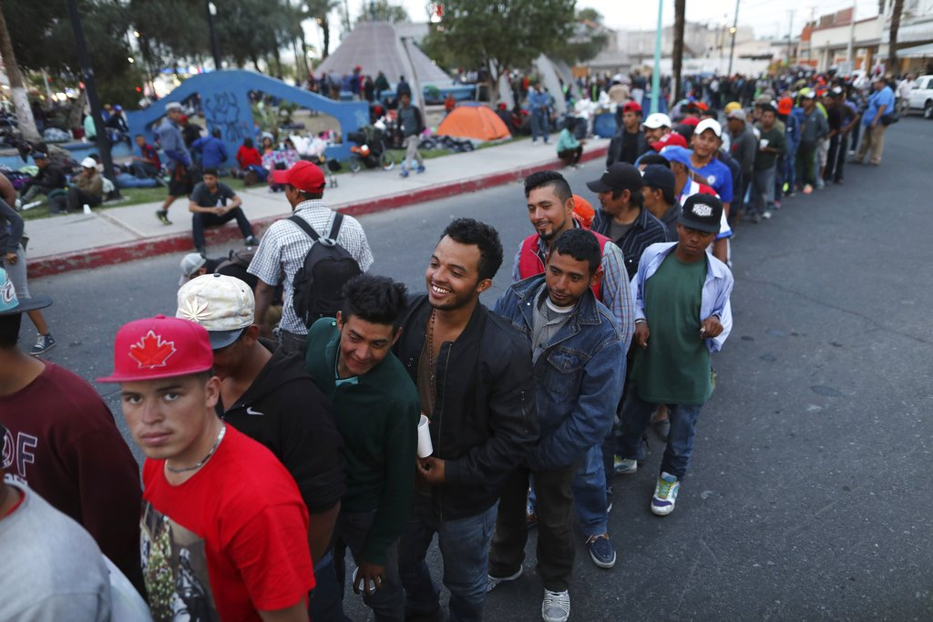 Tijuana border crossing shut as Mexicans protest against arrival of migrant caravan