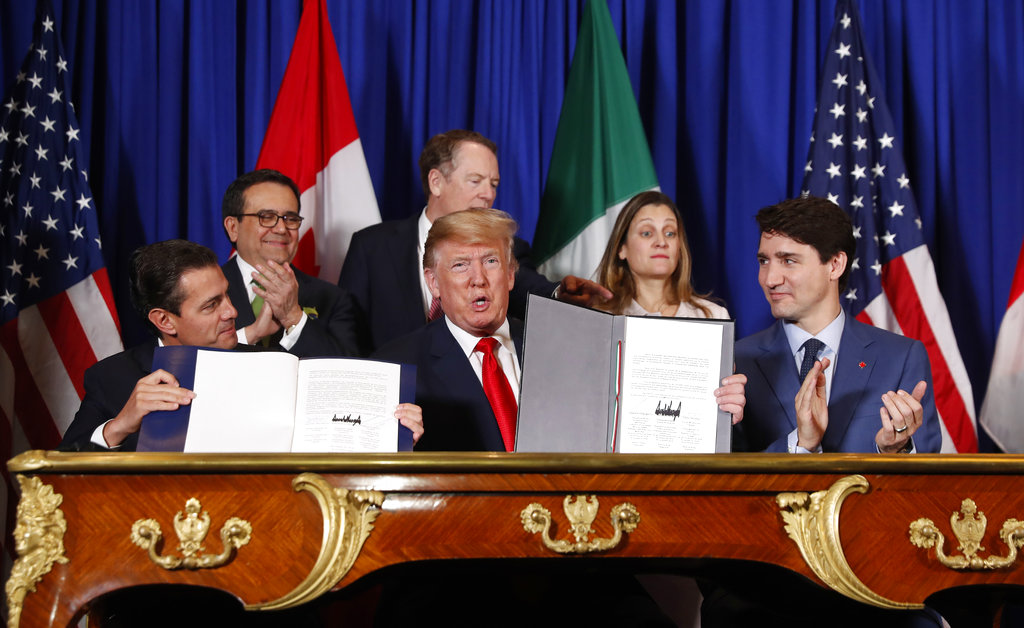 Trump Joins Leaders of Canada, Mexico to Sign New Trade Pact