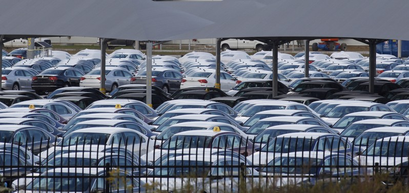 FILE PHOTO: Cars at the Volkswagen Chattanooga Assembly Plant in Chattanooga