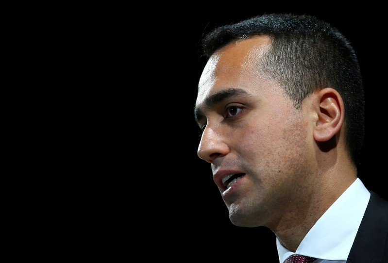 FILE PHOTO: Italian Minister of Labor and Industry Luigi Di Maio speaks at the Italian Business Association Confcommercio meeting in Rome