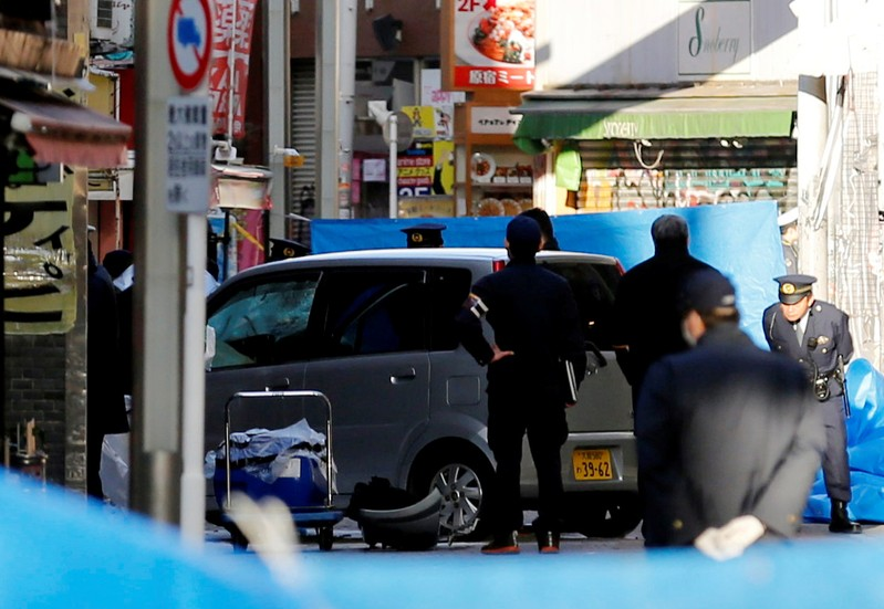 Auto slams into pedestrians on Tokyo road, injuring eight people