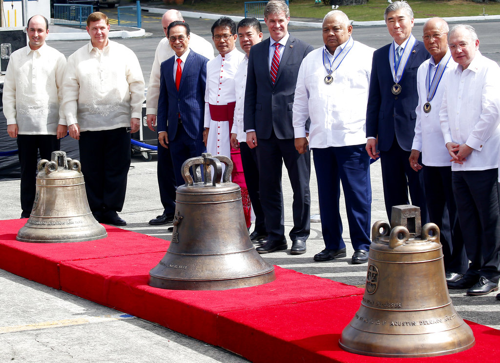 Balangiga bells returned to Philippines by United States  more than a century later