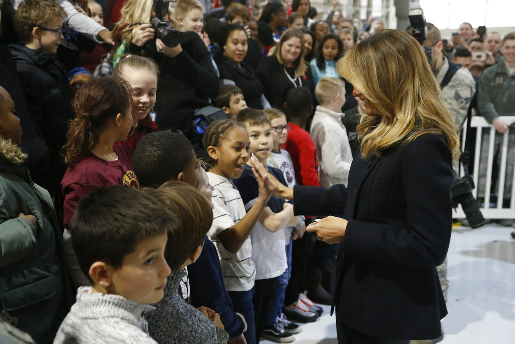 First lady spreads anti-bullying message at kids' hospital