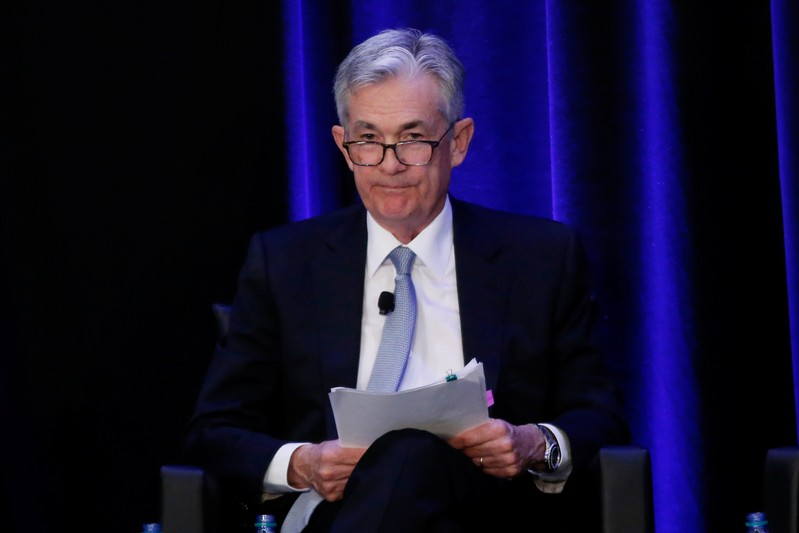 U.S. Federal Reserve Chairman Jerome Powell speaks at the American Economic Association  Allied Social Science Association 2019 meeting in Atlanta