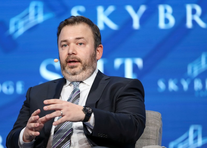 FILE PHOTO:  Founder and CIO at Saba Capital Management Weinstein speaks during the SALT conference in Las Vegas