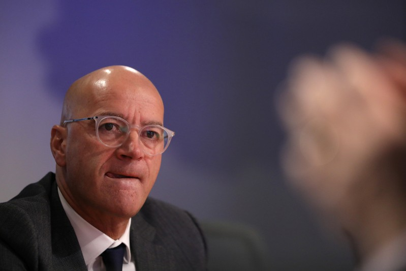 Joachim Fels, Managing Director at PIMCO, speaks during the Reuters Global Investment Outlook Summit in New York