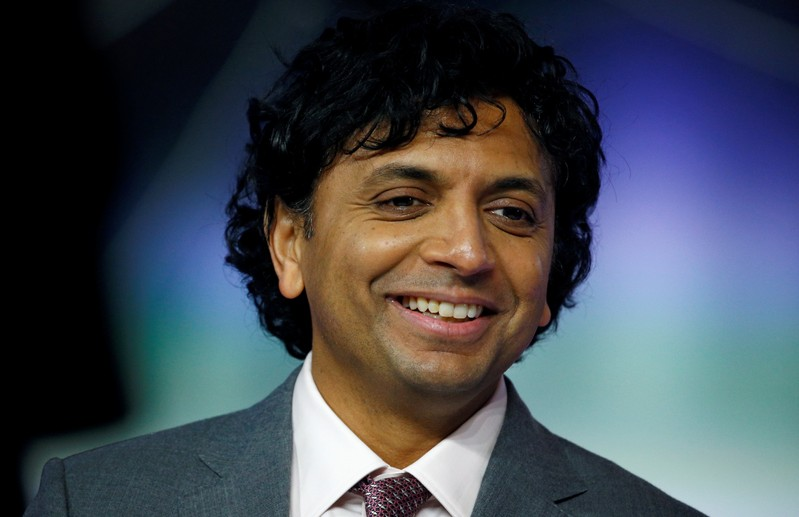 Director M. Night Shyamalan attends the European premiere of